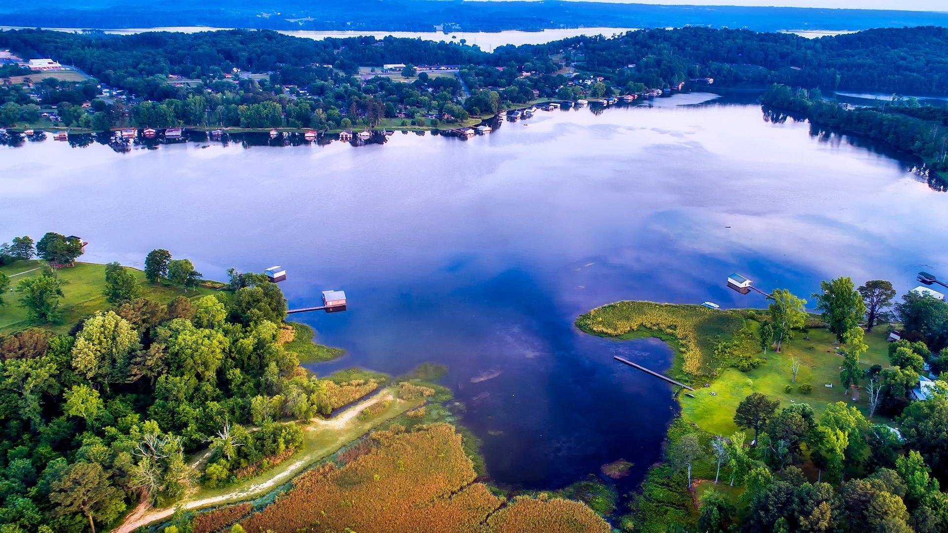 See in Alabama aus der Vogelperspektive