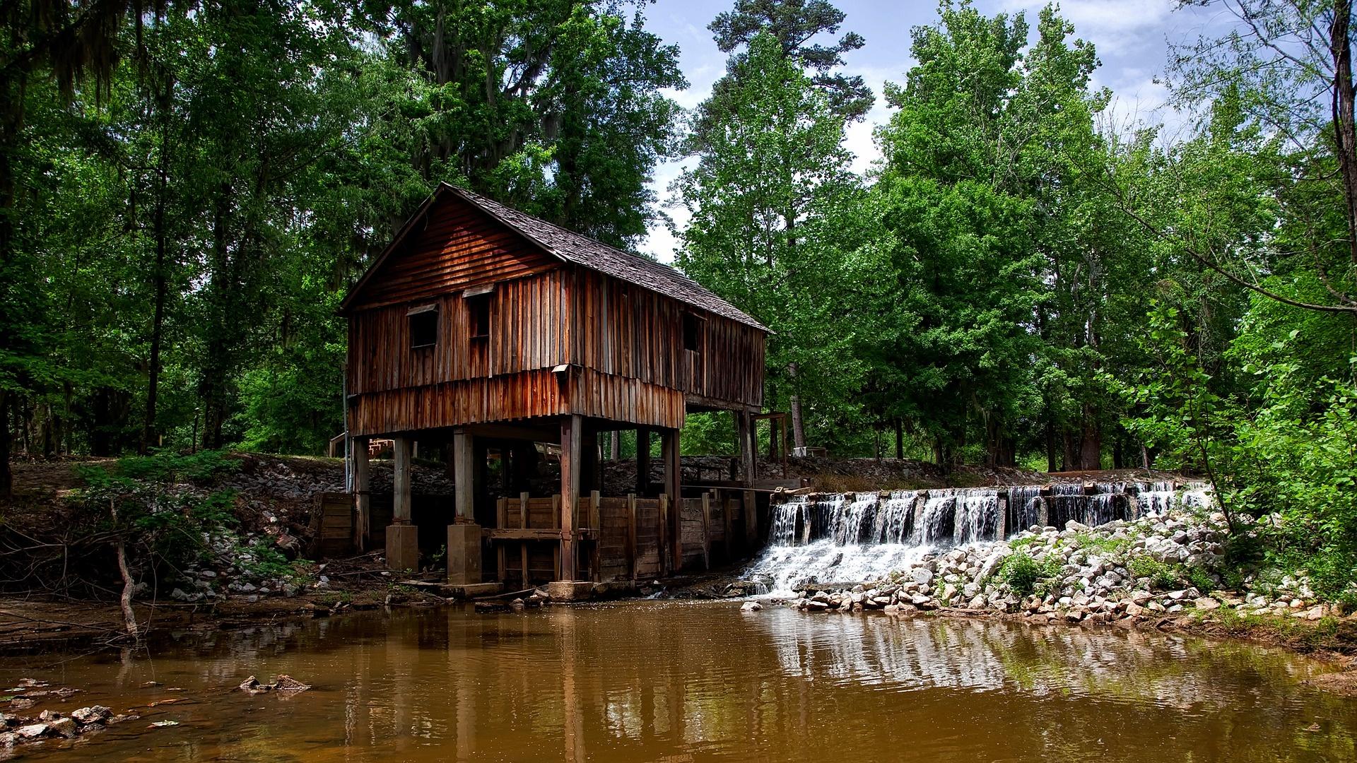 Hütte am Sumpf in Alabama